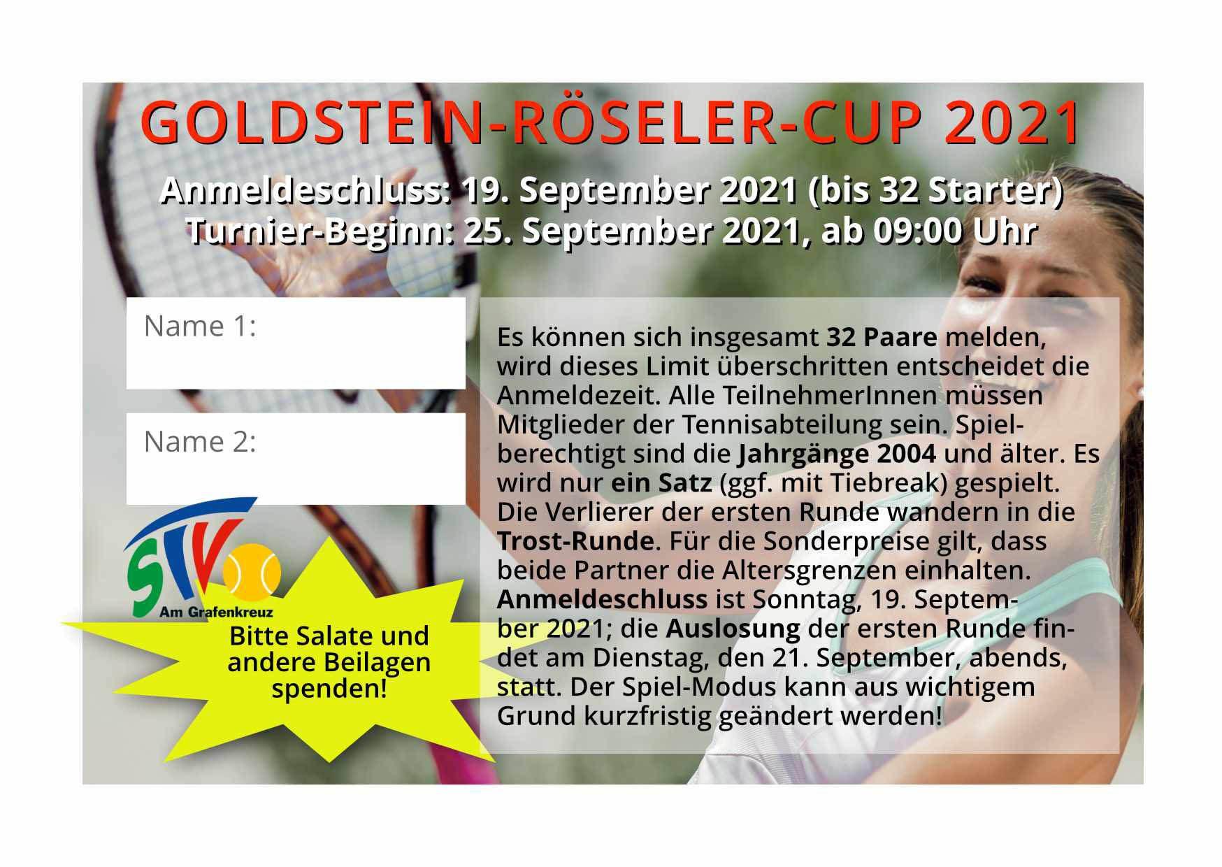 Goldstein&Röseler-Cup 2021_09_25 Anmeldung